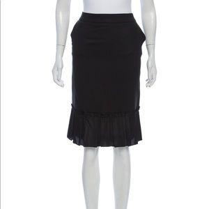Dolce & Gabbana Pleated Knee-Length Skirt - M